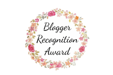 image shows the blogger recognition award certificate