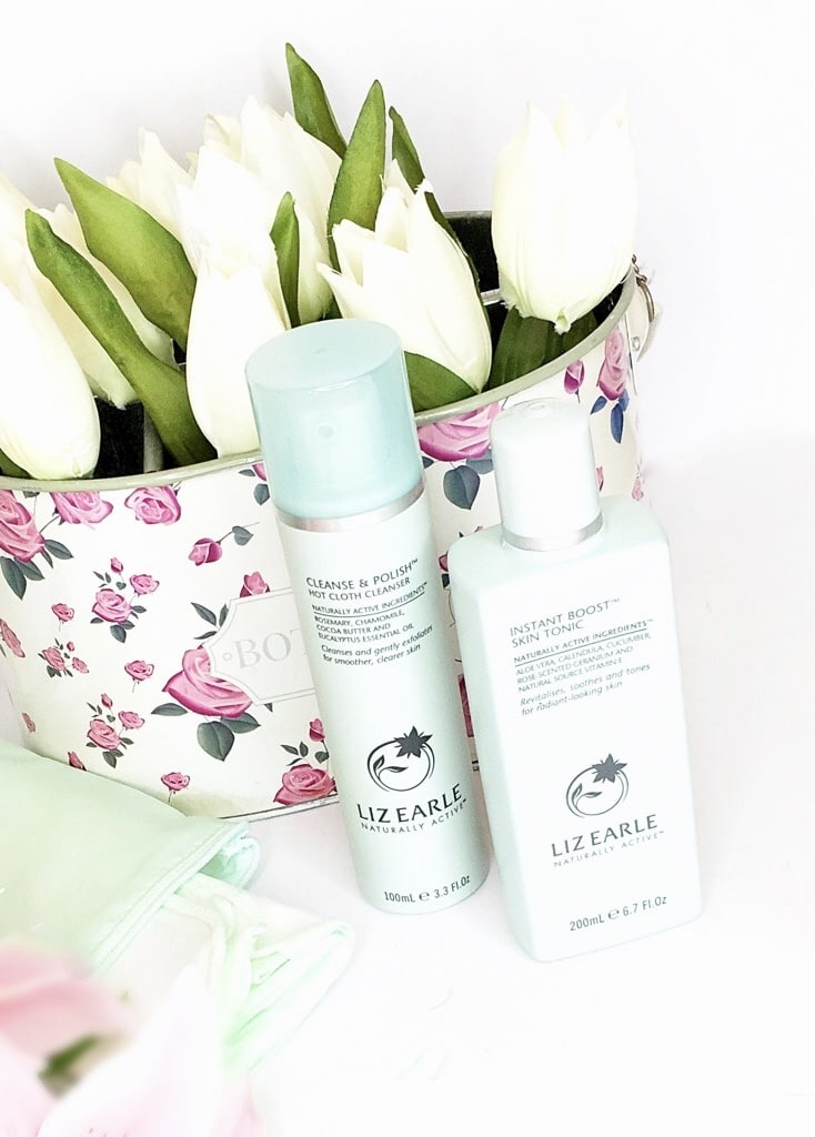 Liz Earle Cleanse and Polish plus instant boost skin tonic