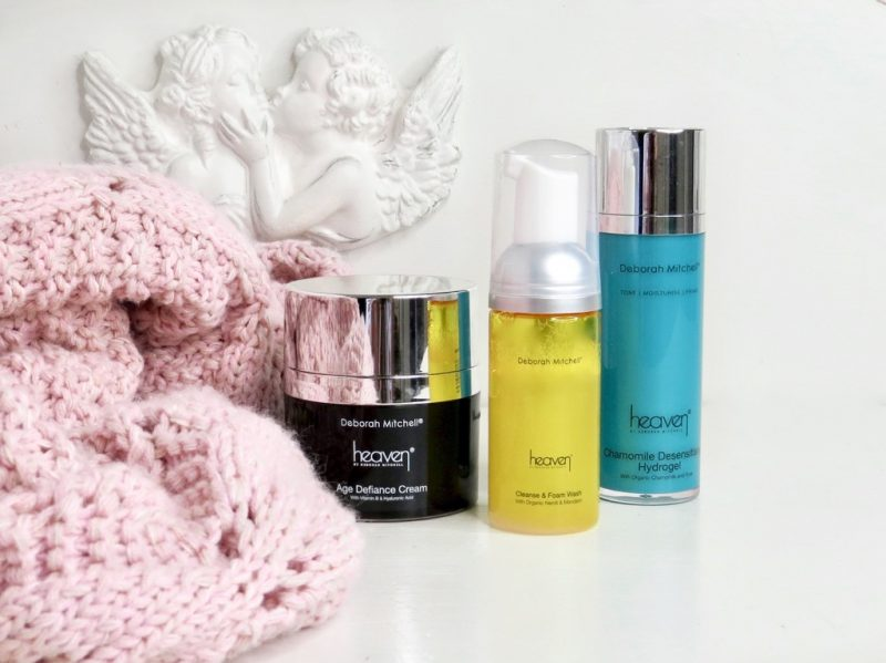image shows The products with 2 white cherubs in the background