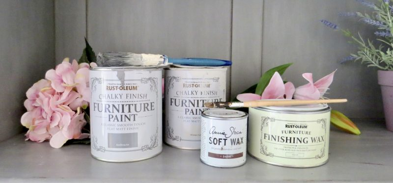 image shows the Rust Oleum paint pots that I used.