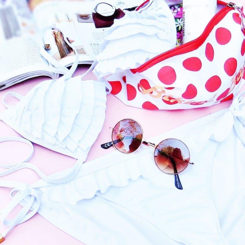 Swimwear and sunglasses