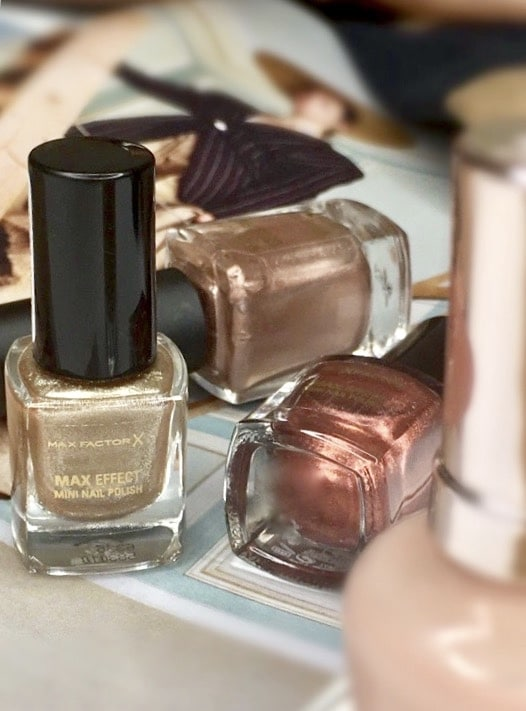 A selection of metallic polishes from Max factor
