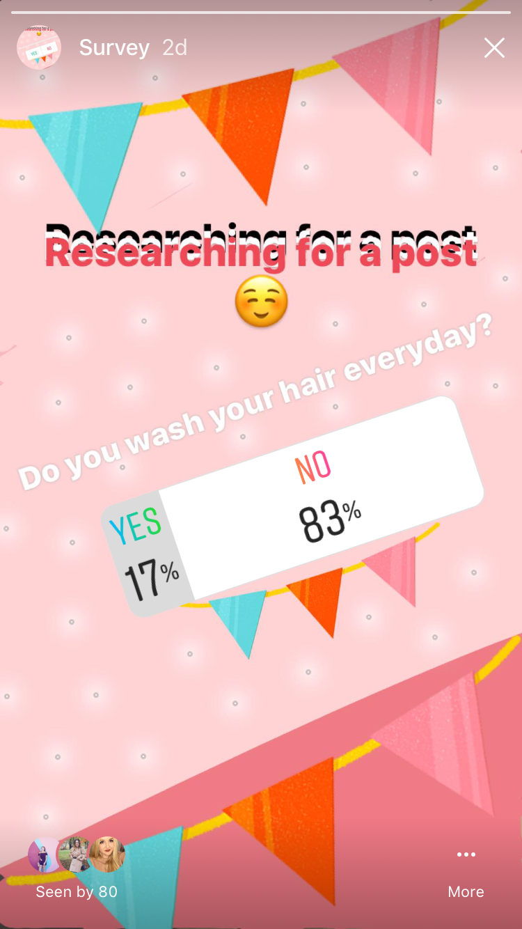 instagram survey
