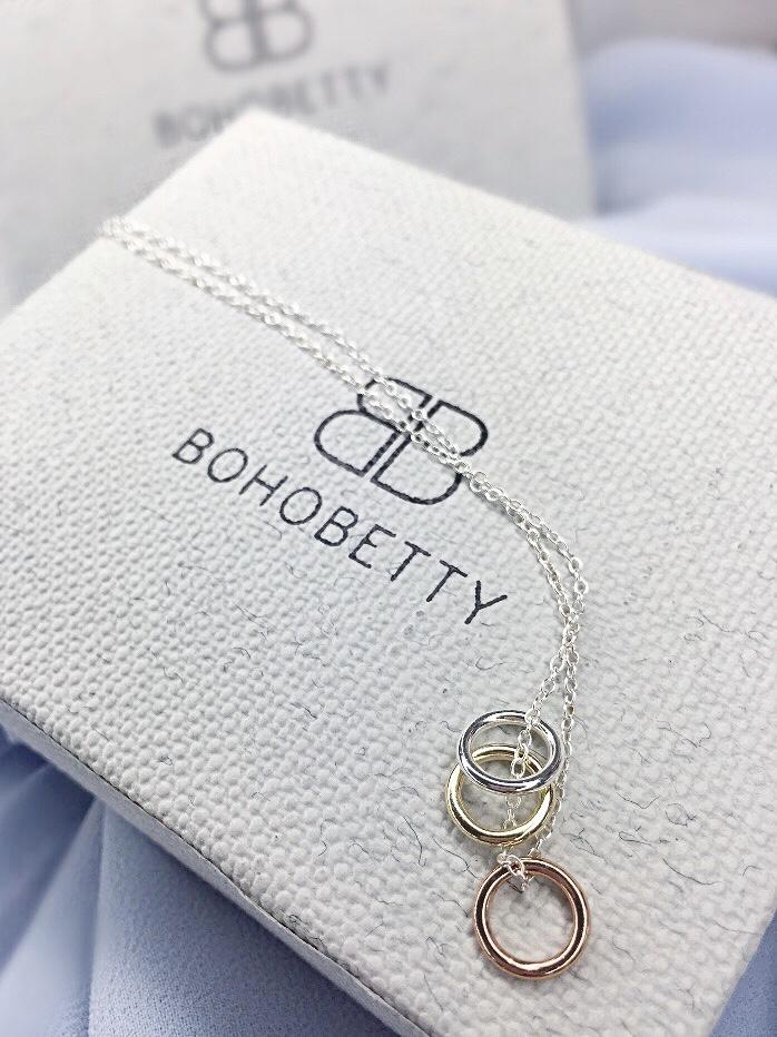 Aramone Three ring Boho Betty necklace