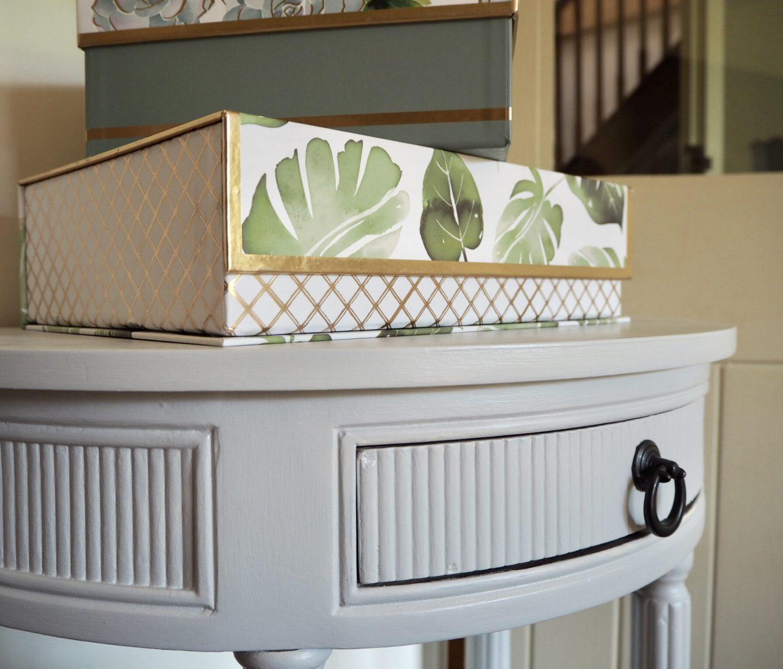 Homesense leaf print storage box