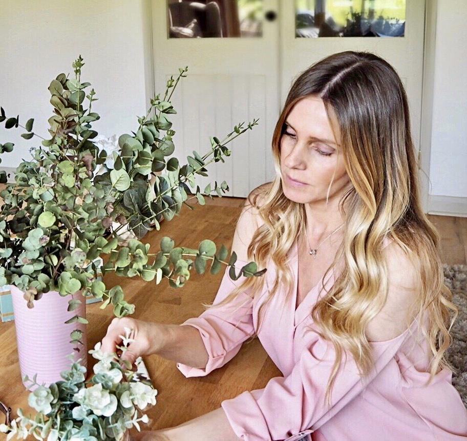 Samantha with her Eucalyptus vase
